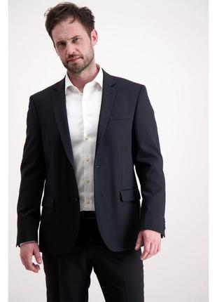 Брендовый черный шерстяной пиджак жакет блейзер с карманами lindbergh этикетка