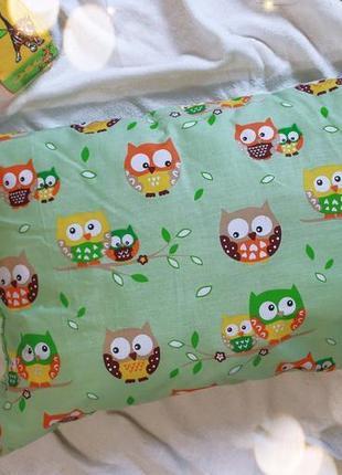 Детская подушка совушка 60х40