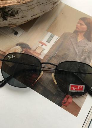 Новинка суперовые солнцезащитные очки чёрные модель унисекс, хит продаж1 фото