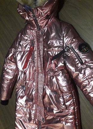 Куртка парка пуховик металик 42р
