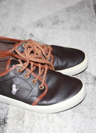 Кожаные туфли на мальчика polo ralph lauren оригинал размер  32,5