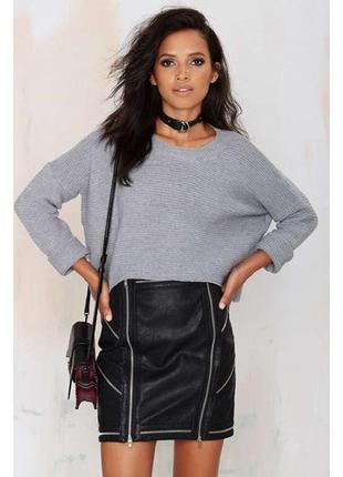 Обнова! стильный теплый джемпер пуловер оверсайз объемный серый меланж качество