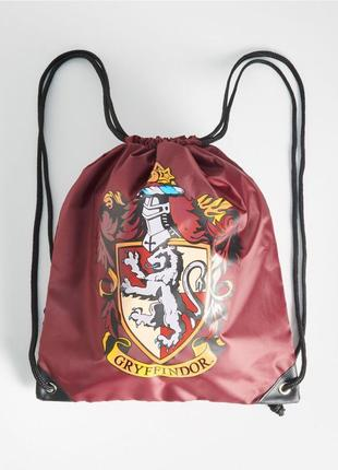 Новый бордовый рюкзак sinsay harry potter gryffindor гарри поттер гриффиндор мешок обуви