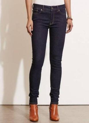 Новые темно-синие классические  джинсы узкие обтягивающие colin's monica зауженные