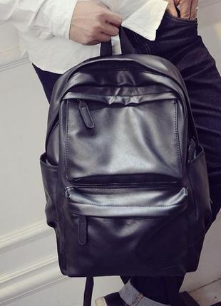 Мужской кожаный рюкзак (экокожа)