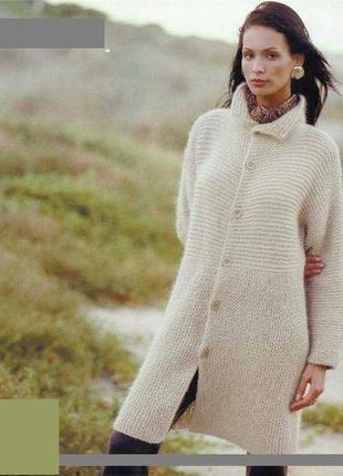 Пальто вязаное,ручная работа