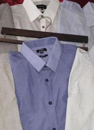 Мужская рубашка в полосочку с длинным рукавом george