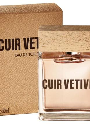 Туалетная вода cuir vetiver для мужчин от yves rocher, ветивер ив роше, 50 мл