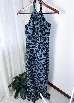 Довга сукня в тропічний принт от н&м
