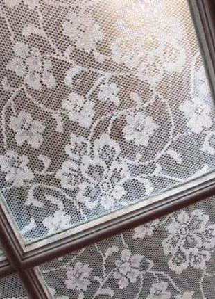 Занавеска ажурная для декора окна