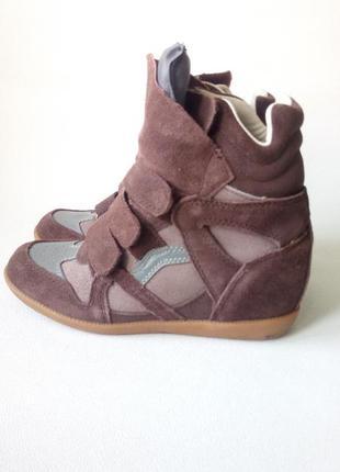 Супер стильные замшевые ботинки сникерсы