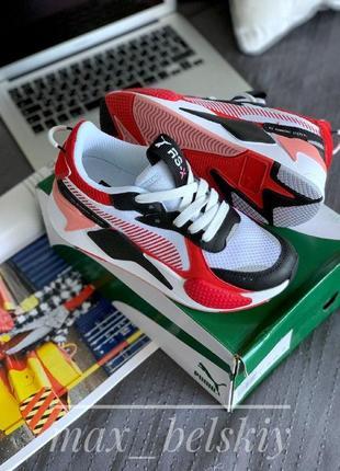 Шикарные женские кроссовки puma rs-x toys - white & black with red