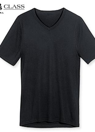 Базовая черная футболка модал р.l6 royal class германия уценка