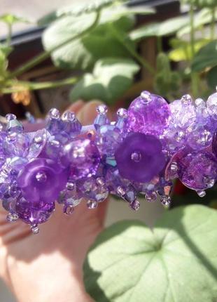 Фиолетовый ободок весна