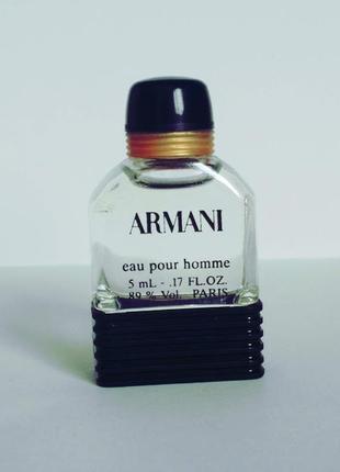 Винтажные духи armani eau pour homme.едт 5 мл.оригинал