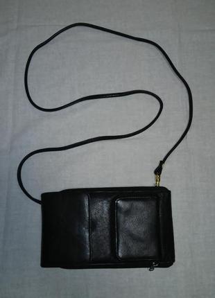 Кожаная сумочка-органайзер, шкіряна (натуральная кожа)