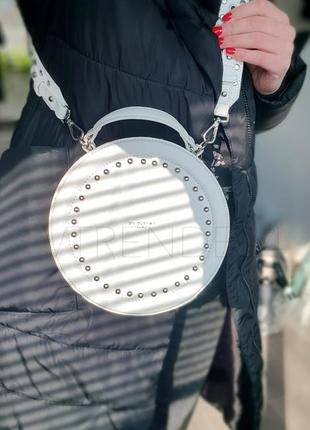 #3585 white david jones хитовая новинка круглая сумка кроссбоди