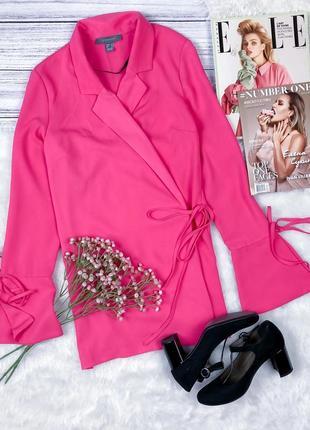 Крутая удлиненная блуза кардиган на запах