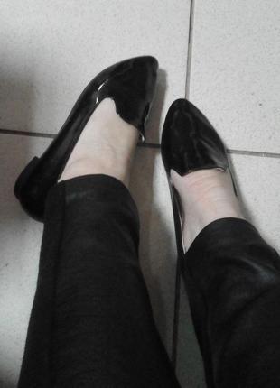 Лаковые балетки , черные