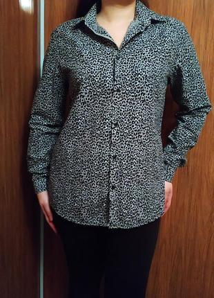 Рубашка h&m в актуальний леопардовий принт