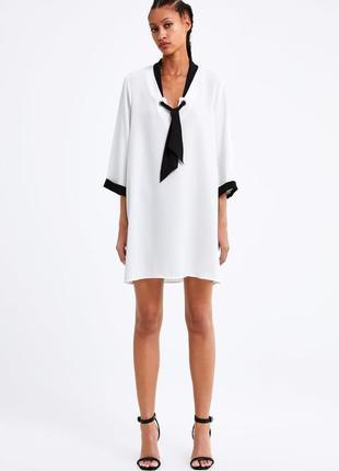 Сукня з контрастним бантом від бренду zara! оригінал, з німеччини!