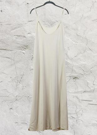 Бежевый сарафан длинный, бежевое платье длинное, летнее платье бежевое marks & spencer4 фото