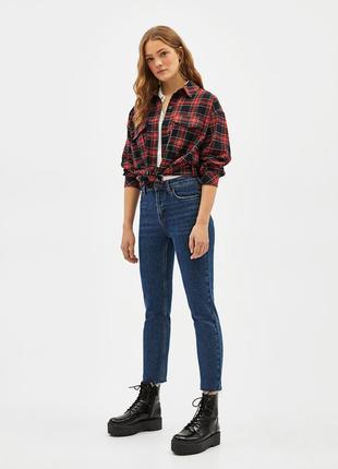 Шикарные прямые джинсы с высокой посадкой от bershka, 36р, испания