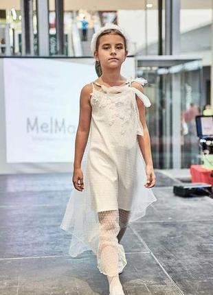 Асиметрична дизайнерська сукня на 134-140см
