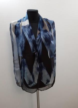 Новый шарф шелк италия ручная работа