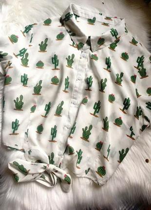 Рубашечка в кактусах, очень легкая