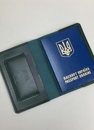 Обкладинка на паспорт зі шкіри, hand made, обложка на паспорт