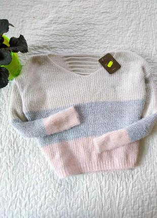 Укороченый пуловер травка. италия.
