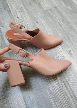 Шикарные новые туфли лодочки босоножки мюли topshop