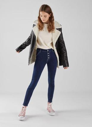 Шикарные джинсы с высокой посадкой bershka, 34, 36, 38, 42р, испания