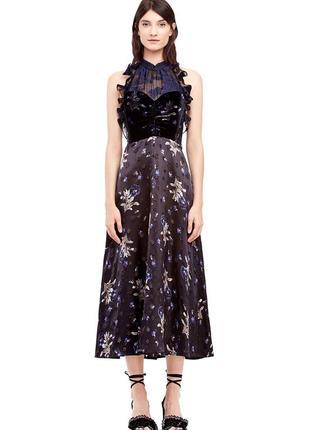 Шелковое платье rebecca taylor длинное оригинал вечернее нарядное выпускное self portrait