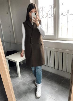 Длинный пиджак / жакет, длинная жилетка new look, размер 38