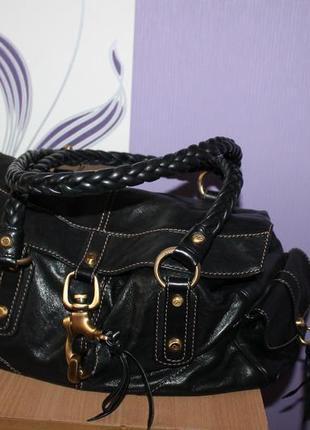 Интересная кожаная сумка francesco biasia