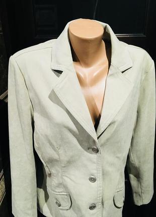 Шикарный пиджак с накладными карманами на подкладке от kingfield 52-54 р3 фото