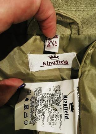 Шикарный пиджак с накладными карманами на подкладке от kingfield 52-54 р4 фото
