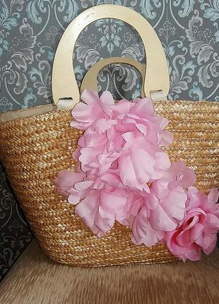 Стильная плетенная сумка-корзинка из лозы, италия