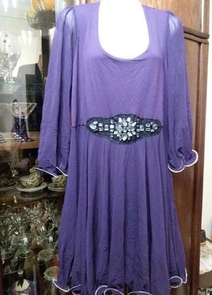 Нарядное платье на пани -16-18р тунис