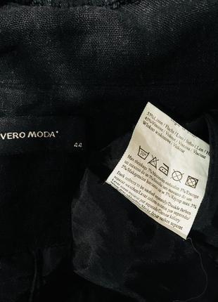 Стильный легкий  жакет с бахромой  из 100% льна с карманами и вышивкой на спине4 фото