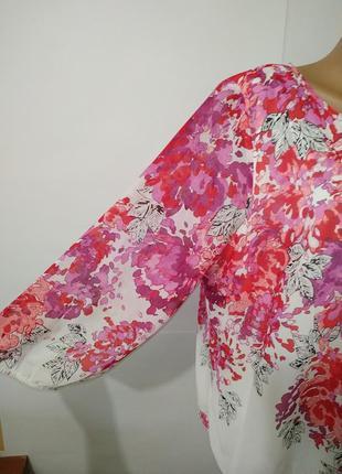 Нежная нарядная блуза большой размер в цветочный принт uk 20/48/,xxxl6