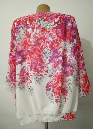 Нежная нарядная блуза большой размер в цветочный принт uk 20/48/,xxxl8