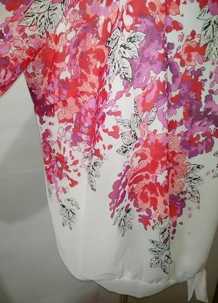 Нежная нарядная блуза большой размер в цветочный принт uk 20/48/,xxxl3