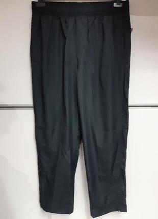 Штаны мужские спортивные больневые сетка летние легкие черные