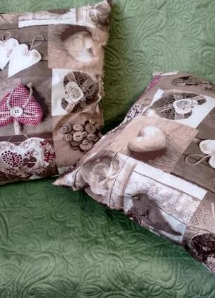 Пара подушек 35х35 декоративная подушка