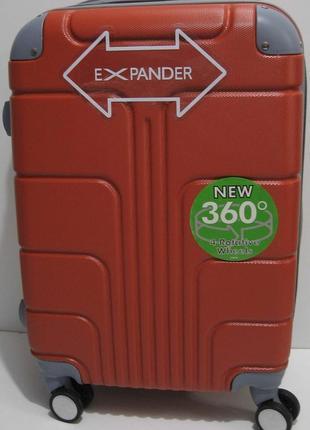 Дорожный пластиковый чемодан (маленький-оранжевый) 19-03-026