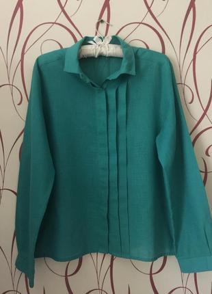 Красивая блуза мятного цвета р 48-50