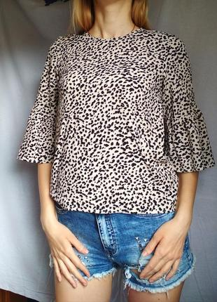 Блузка в леопардовий принт h&m